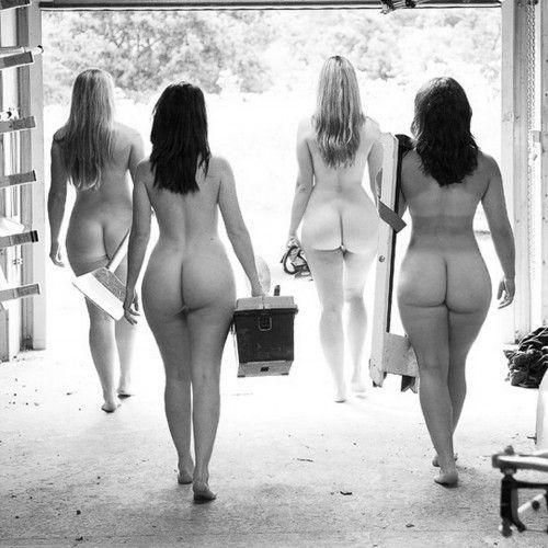 4 jolies filles grosses rondes nues
